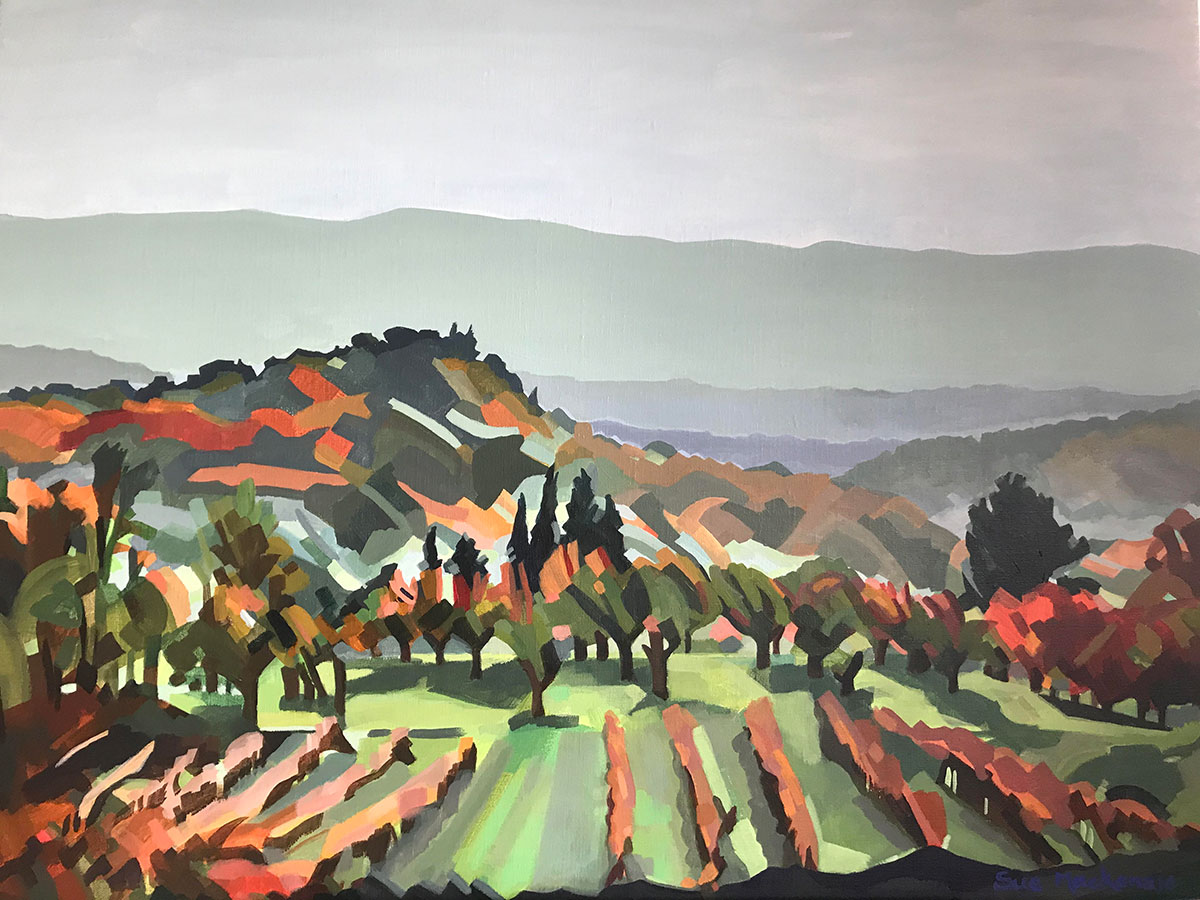 Goult Late November Afternoon - 60cm x 80cm - Acrylic on Canvas