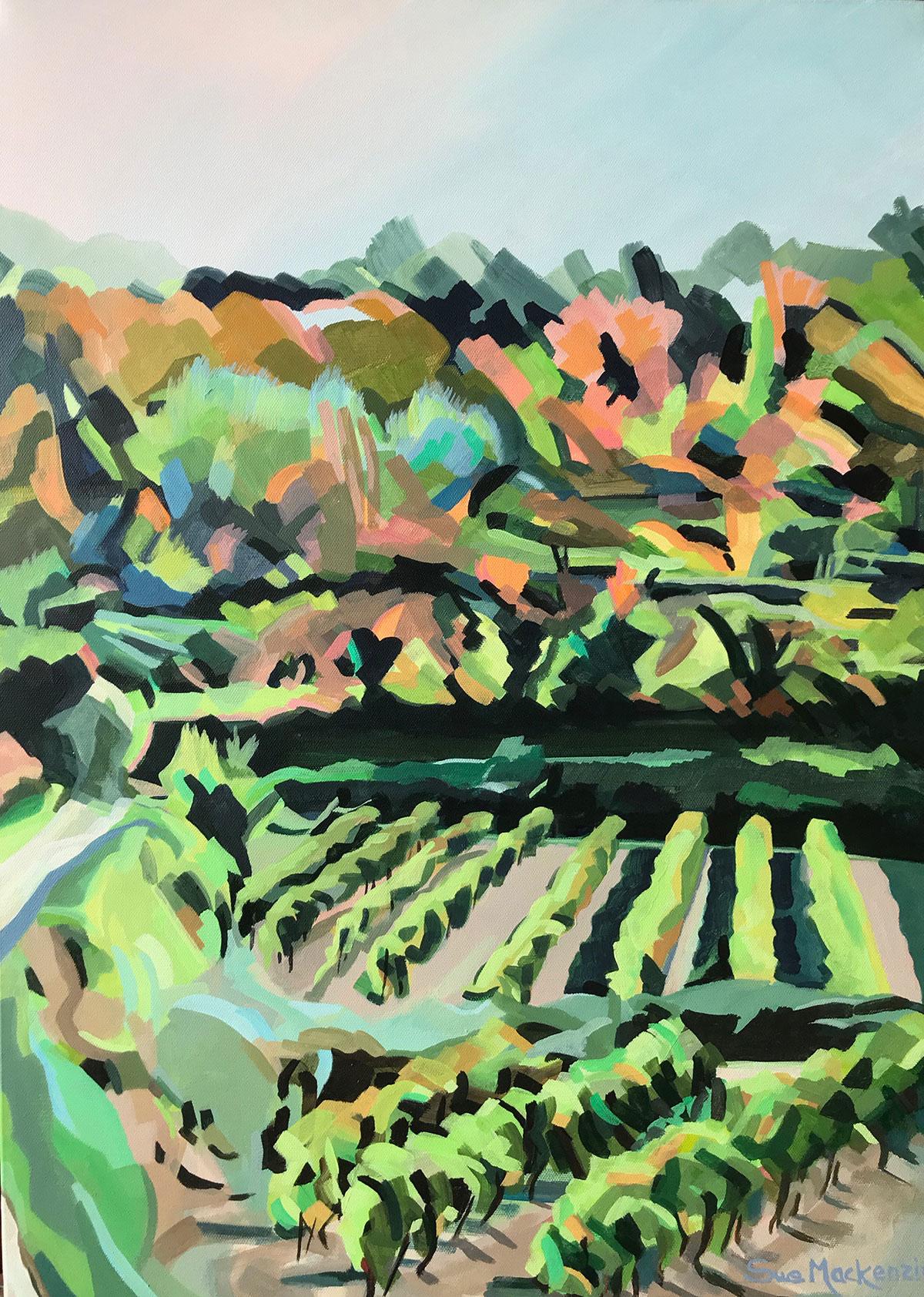 South Valley Luberon - Acrylic on Canvas - 70cm x 50cm - unframed